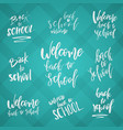 back to school typography set - vintage style vector image vector image