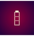 Battery icon Flat design style vector image vector image