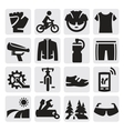 biking icon vector image vector image