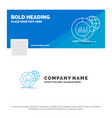 Blue business logo template for big chart data