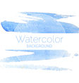 Blue watercolor background blue text vector image vector image