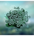 blurred background Spring hand lettering vector image