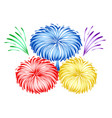 bright holiday firework design stock vector image