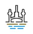 Building architecture logo vector image