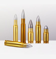 bullets realistic background vector image vector image