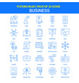 business icons - futuro blue 25 icon pack vector image vector image