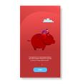 businessman sitting piggy bank money savings vector image vector image