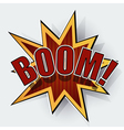 Cartoon boom vector image vector image