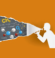 chemistry teacher distance learning vector image vector image