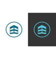 circle building logo vector image vector image