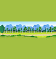 city park clean energy wind turbines green lawn vector image vector image