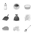 cleaning washing and everything connected with it vector image vector image