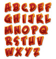 comic alphabet font set vector image