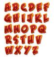 comic alphabet font set vector image vector image