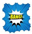 comic bang template vector image vector image