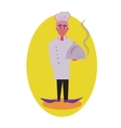 Cook avatar and person Flat colored vector image vector image