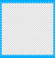 cyan blue and white square border of animal paws vector image