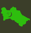 detailed of a map of turkmenistan with flag eps10 vector image vector image