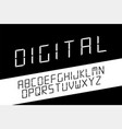 digital minimalistic font english alphabet vector image vector image