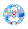 doctor with medical equipment vector image