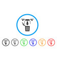 drone drop trash rounded icon vector image vector image