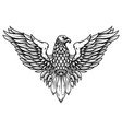 eagle in engraving style design element for logo vector image