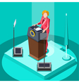 Election Infographic Politic Work Isometric People vector image vector image