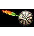 Flaming dart and board vector image