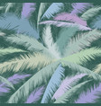 floral pattern palm tree leaves nature spring vector image vector image