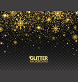 glitter particles and snowflakes falling on vector image