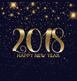 gold confetti happy new year background vector image vector image
