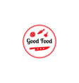 good food logo design templategraphic knife and vector image