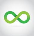 Green infinity symbol logo icon vector image vector image