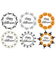 halloween round frame for text isolated on white vector image vector image