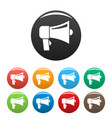 hand speaker icons set color vector image