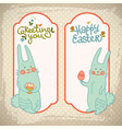 happy easter decorative banners vector image vector image
