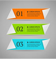 Horizontal colorful options banner template vector image vector image