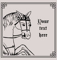 horse in medieval style vector image