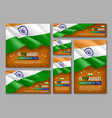 indian independence day celebration posters set vector image