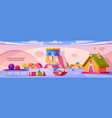 kids playroom interior empty indoors playground vector image