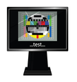 lcd tv with test vector image vector image