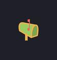 Mailbox computer symbol vector image vector image