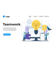 modern flat design teamwork can be used vector image
