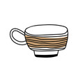 mug for coloring book tableware for vector image vector image