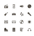 music - flat icons vector image