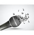 music microphone background vector image