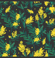 natural seamless pattern with gorgeous blooming vector image vector image