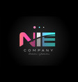 Nie n i e three letter logo icon design vector image