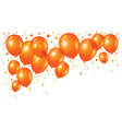 orange balloons on white background vector image vector image