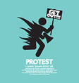 Protester With A Protest Message Board vector image